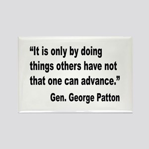 Patton Doing Things Quote Rectangle Magnet