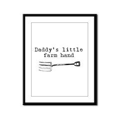 Daddy's Helper Framed Panel Print