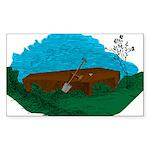 Masonic Coffin No. 5 Rectangle Sticker