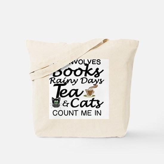 Unique Cats books Tote Bag