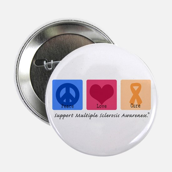 "Peace Love Cure MS 2.25"" Button"