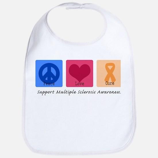 Peace Love Cure MS Bib