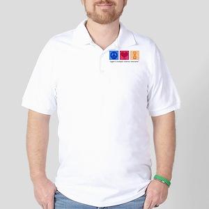 Peace Love Cure MS Golf Shirt
