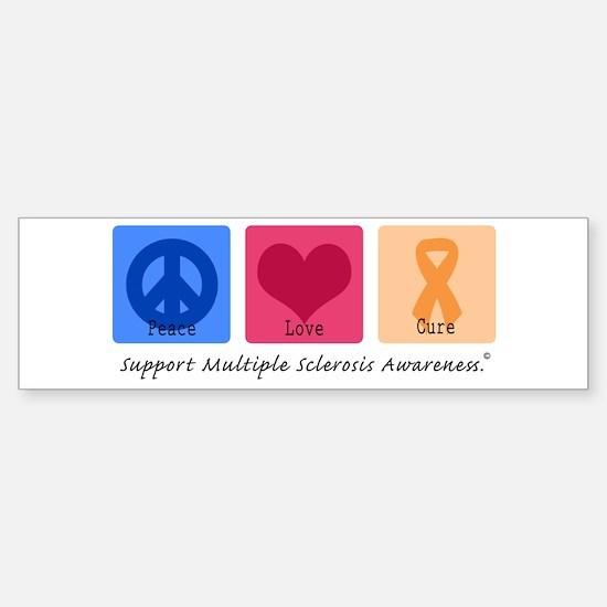 Peace Love Cure MS Bumper Bumper Bumper Sticker