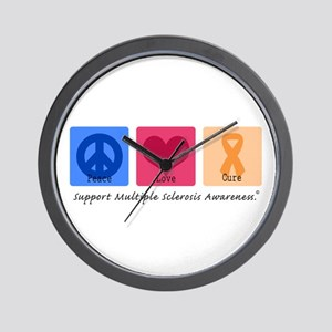 Peace Love Cure MS Wall Clock