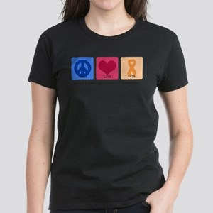 Peace Love Cure MS Women's Dark T-Shirt