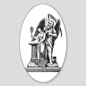 Virgin with Broken Column No. Oval Sticker