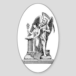Virgin with Broken Column No. Oval Sticker