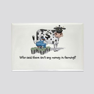 Money Cow Rectangle Magnet