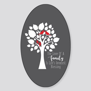 Family Two Birds Sticker (Oval)