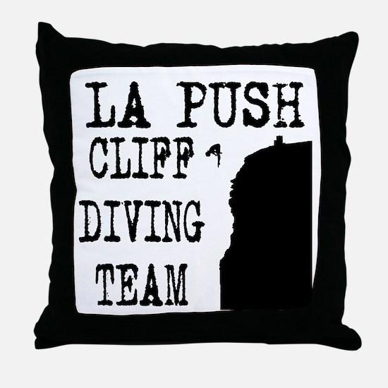 La Push Cliff Diving Team Throw Pillow
