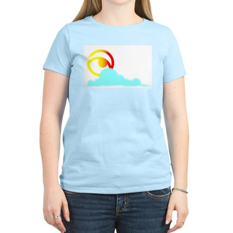 Asher in Clouds Women's Pink T-Shirt