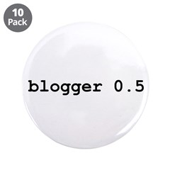 """Blogger 0.5 3.5"""" Button (10 pack)"""