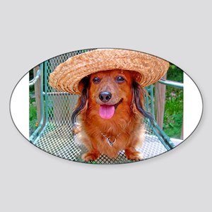Vacation Doxie Oval Sticker