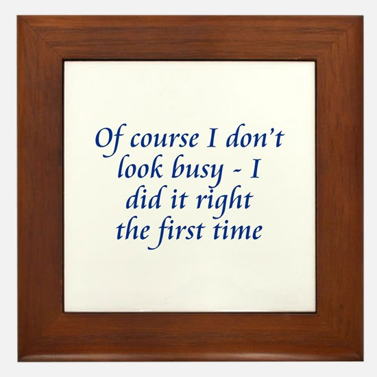 Did It Right Framed Tile
