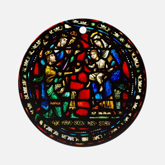 Adoration of the Magi Ornament (Round)