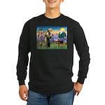 Saint Francis & Airedale Long Sleeve Dark T-Shirt