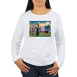 Saint Francis & Airedale Women's Long Sleeve T-Shi