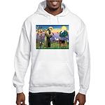 Saint Francis & Airedale Hooded Sweatshirt