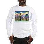 Saint Francis & Airedale Long Sleeve T-Shirt