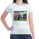 Saint Francis & Airedale Jr. Ringer T-Shirt