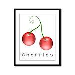 cherries Framed Panel Print