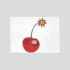 Glitter Cherry Bomb 5'x7'Area Rug