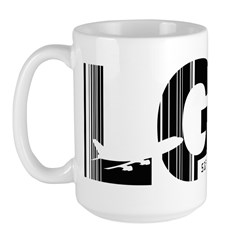 London Gatwick England LGW Airport Code Large Mug
