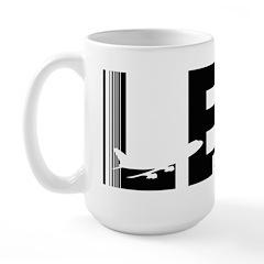Leeds England LBA Airport Code Design Large Mug