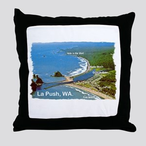 La Push, WA. 3 Throw Pillow