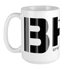 Birmingham England Airport Code BHX Large Mug
