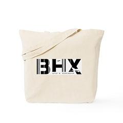 Birmingham England Airport Code BHX Tote Bag