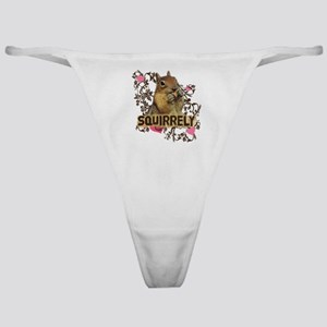 Squirrely Squirrel Lover Classic Thong