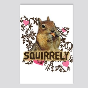 Squirrely Squirrel Lover Postcards (Package of 8)