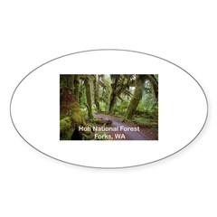 Forks, WA. 3 Oval Sticker (50 pk)