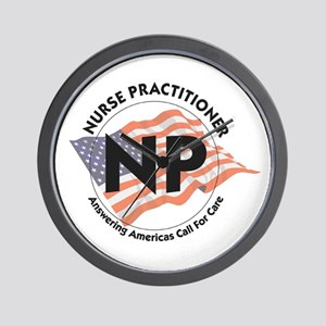 Patriotic Nurse Practitioner Wall Clock