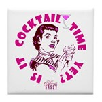 Is it Cocktail Time Yet? Tile Coaster