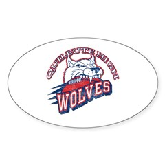 Quileute High Wolves Oval Sticker (50 pk)