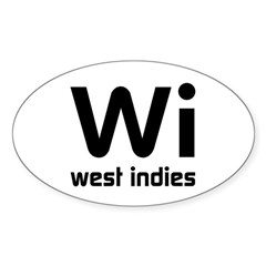 Wi (West Indies) Oval Decal