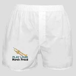 Play Loud March Proud Trumpet Boxer Shorts