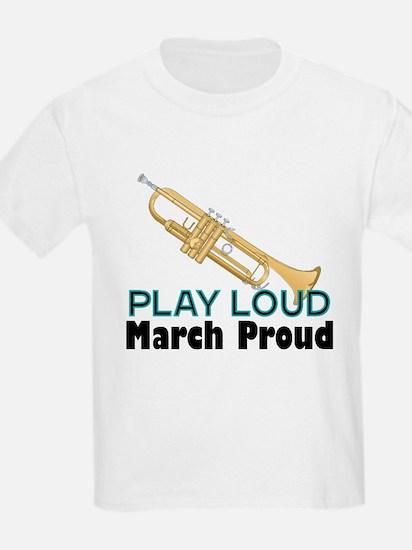 Play Loud March Proud Trumpet T-Shirt