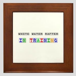White Water Rafter In Training Framed Tile