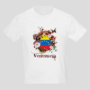 Butterfly Venezuela Kids Light T-Shirt