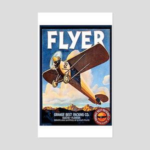 Vintage Airplane Rectangle Sticker