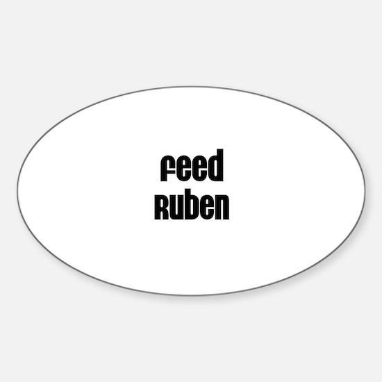 Feed Ruben Oval Decal