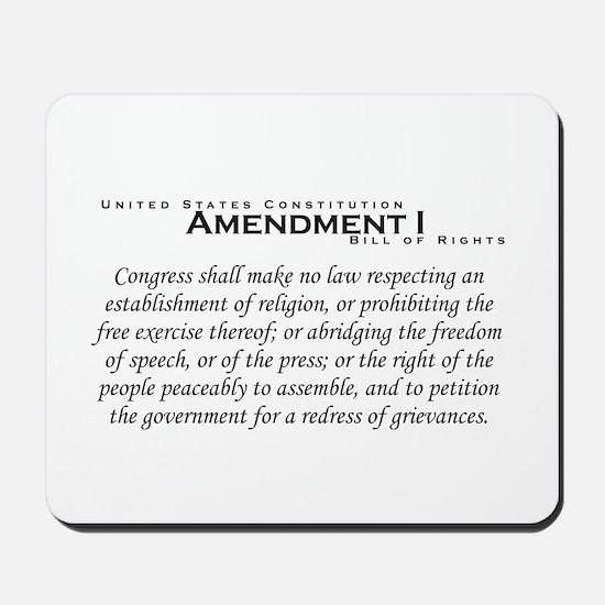 Amendment I Mousepad