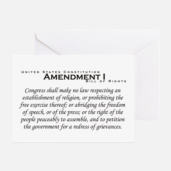 Amendment I Greeting Card