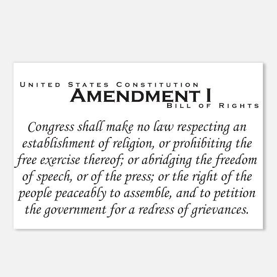 Amendment I Postcards (Package of 8)