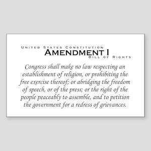 Amendment I Rectangle Sticker