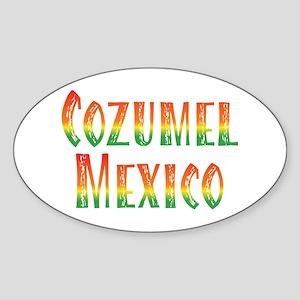 Cozumel Mexico - Oval Sticker